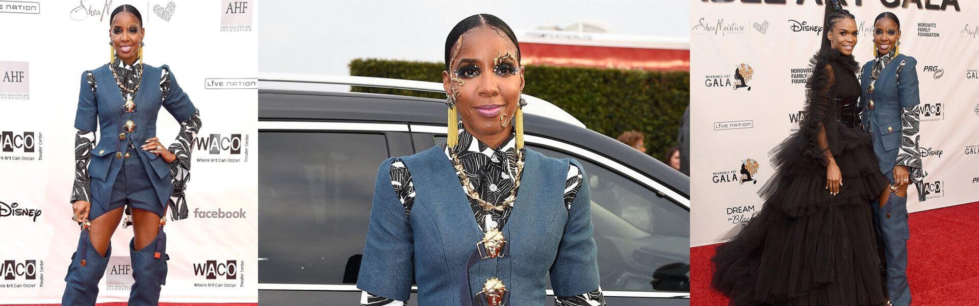 Kelly Rowland éblouissante dans une création Loza Maléombho